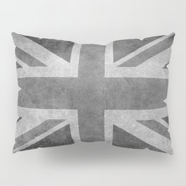 British Union Jack flag in grungy tex Pillow Sham