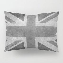 British Union Jack flag 1:2 scale retro grunge Pillow Sham