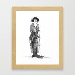 """Woman Wearing a Tri-Corner Hat"" Framed Art Print"