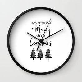 Merry Little Christmas Wall Clock