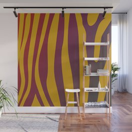 Design tiger Wild lines ethnic chocos Wall Mural