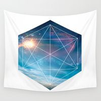 guardians Wall Tapestries featuring Galaxy Guardians by GeoDesigned