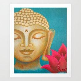 Buddha & Lotus 11 Art Print