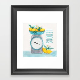 Lemon Kitchen Scale 2 Framed Art Print
