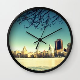 Frozen shadows Wall Clock