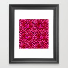 Heart Pattern 01 Framed Art Print