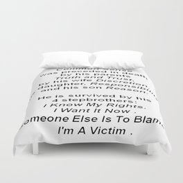 The Death of Common Sense Duvet Cover