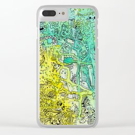 Water color 1 Clear iPhone Case