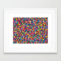 mosaic Framed Art Prints featuring Mosaic by Juliana Kroscen