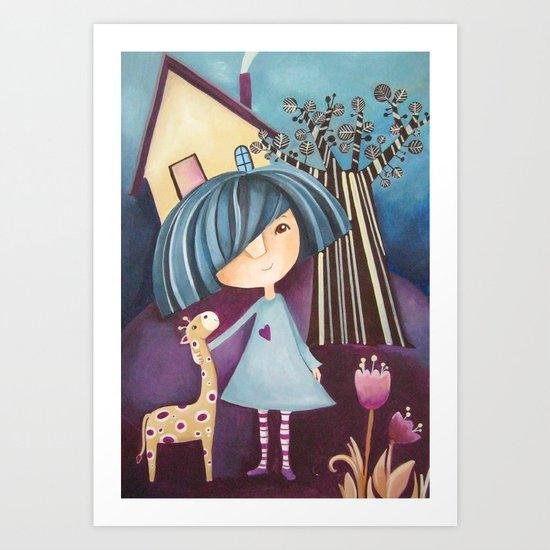 My lovely pet Art Print
