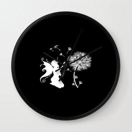 Dandelion Flower floral print woman Gift Fairies Wall Clock