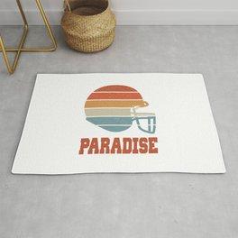 Paradise  TShirt American Football Shirt Footballer Gift Idea  Rug