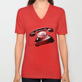 TELEPHONE Unisex V-Neck