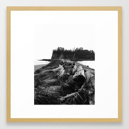 Dark Shore Framed Art Print