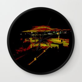 Don't stop. It's a sign. Stop street in the dark Wall Clock