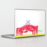 cuddle Laptop & iPad Skins featuring Wanna Cuddle? by Ryan van Gogh