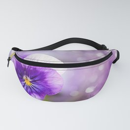Purple Pansy Fanny Pack