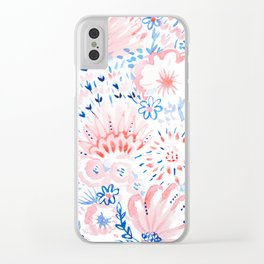 Floral Folk Clear iPhone Case