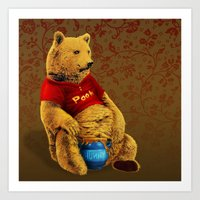 pooh Art Prints featuring Pooh by J ō v