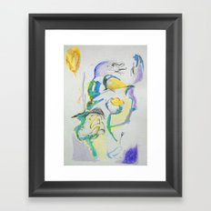 fragments from my skech book - part I Framed Art Print