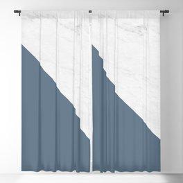 Marble Bluestone Diagonal Color block Blackout Curtain