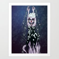 Ursula the Sea Witch Little Mermaid Octopus RonkyTonk Art Print