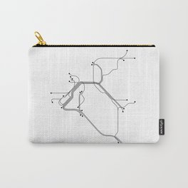 San Francisco Subway White Map Carry-All Pouch