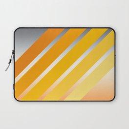 Orange Striped Gradient Laptop Sleeve