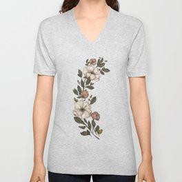 Floral Laurel Unisex V-Neck