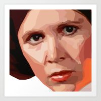 leia Art Prints featuring Leia by DavyR