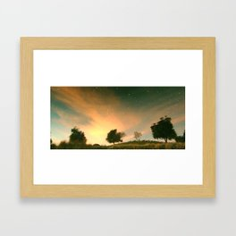 sky below ground Framed Art Print