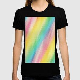 Pastel Rainbow pixels T-shirt