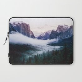 Misty Tunnel View - Yosemite National Park, CA Laptop Sleeve