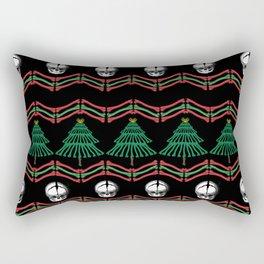 skeletal ugly christmas sweater Rectangular Pillow