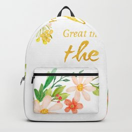 Great Thoughts come from the heart - Gold and flowers Backpack
