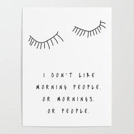 Morning People / Poster, scandinavian, art print, drawings, paintings, type, illustration, eye Poster