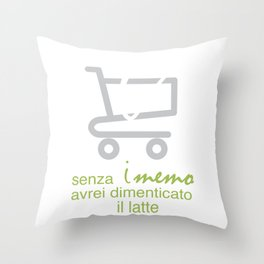 spesa Throw Pillow