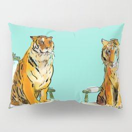 animals in chairs # 21 The Tigers Pillow Sham