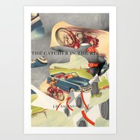 catcher in the rye Art Prints featuring Catcher in the Rye by all2