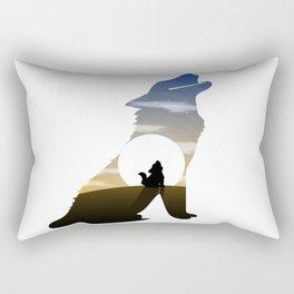 Baby wolf moon Rectangular Pillow