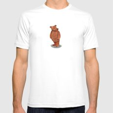 More Bears Mens Fitted Tee SMALL White