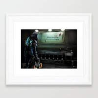 dead space Framed Art Prints featuring Dead Space by rjs_allison