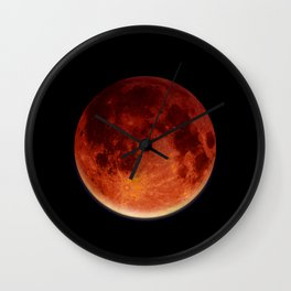 Super Blood Moon Wall Clock