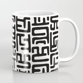 Black And White African Abstract Shapes Coffee Mug