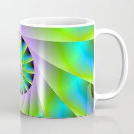 Turquoise Lilac and Green Spiral Coffee Mug