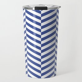 Classic blue chevron Travel Mug