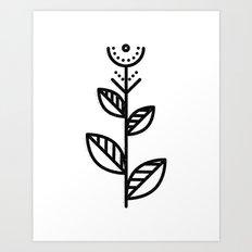 MINIMAL FLOWER Art Print