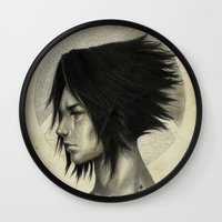 sasuke Wall Clocks featuring Weight of the World by thegreencarousel