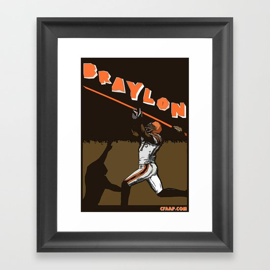 "Braylon Edwards ""Drop"" Poster Framed Art Print"