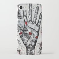 writer iPhone & iPod Cases featuring palm writer by sladja